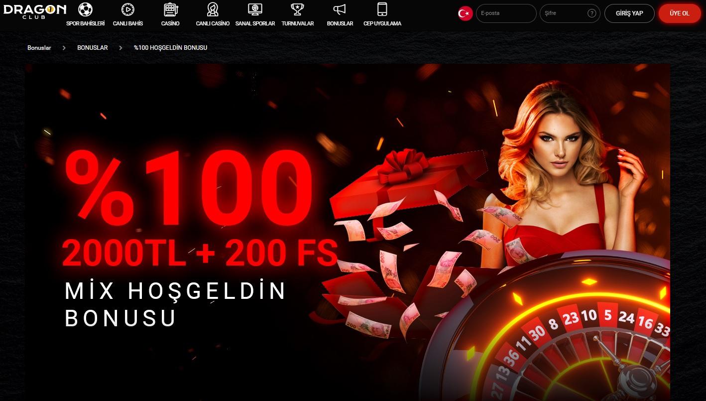 Dragonbahis 2000 TL bonus